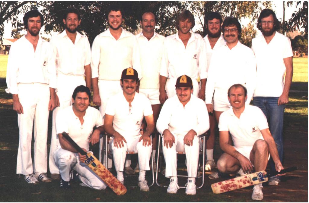 Keswick Cricket Club Premiers 1982 83 A grade
