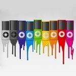 colourfull iPods in a row